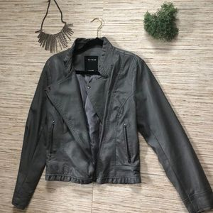 Therapy Faux Leather Jacket